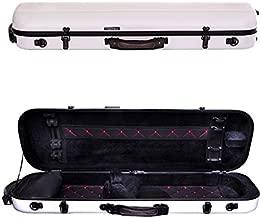 Tonareli Violin Oblong Fiberglass Case- White with Red Interior Stitching 4/4 VNFO1000R