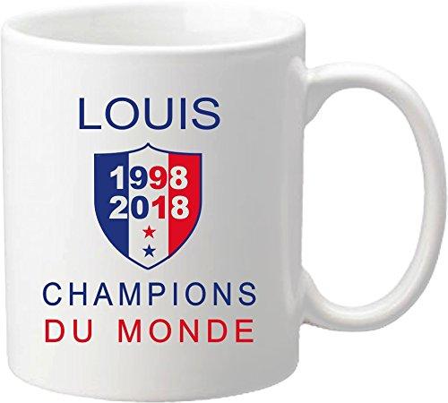 Mug Coupe du Monde de Football 2018 - France Champions du Monde 2018 - offrez vous ce mug personnalisé de l'équipe de France de football - maillot Mug-2018-B