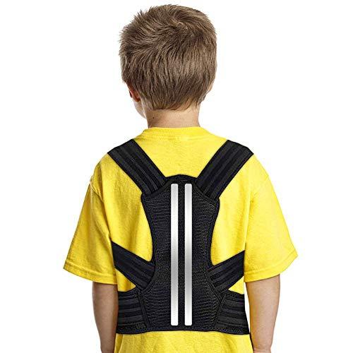 Doact Geradehalter zur Haltungskorrektur für Kinder und Jugendliche, Upper Back Clavicle Brace mit Weichen Schulterpolstern und Verstellbaren Gummibändern für Kyphose, Brustbeugung und Buckelrücken