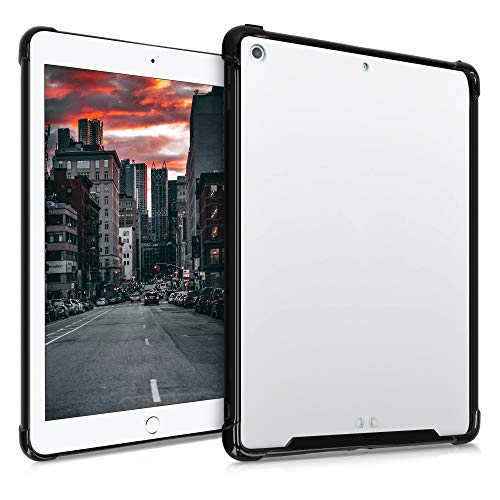 kwmobile Hülle kompatibel mit Apple iPad 9.7 (2017/2018) - Tablet Cover Hülle - Rahmen Schwarz Transparent