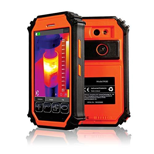 5,5 Zoll-HD-LCD Hand Infrarot-Wärmebildkamera, 80 * 80 Hohe Auflösung Clever Hohe Qualität IR-Wärmebildkamera Industrie Objekt Thermometer, Screen Display Echtzeit-Thermografie