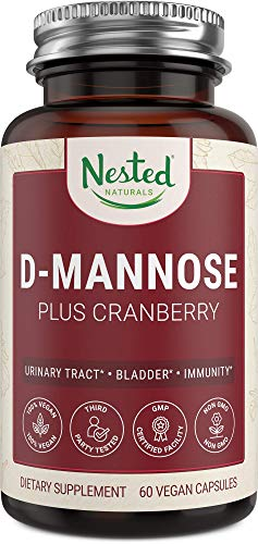 (50% OFF Coupon) D-Mannose 500mg Supplement Plus Cranberry $8.98