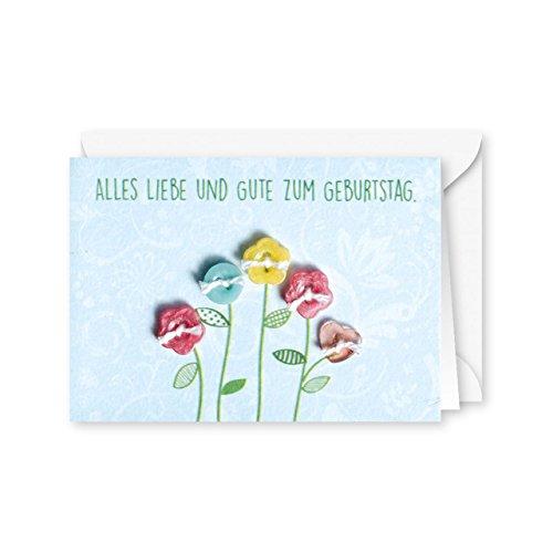 Knopfkarte 47 - Alles Liebe und Gute - Geburtstagskarte - Mini-Karte