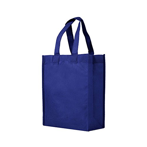 Reusable Gift / Party / Lunch Tote Bags - 25 Pack - Navy Blue