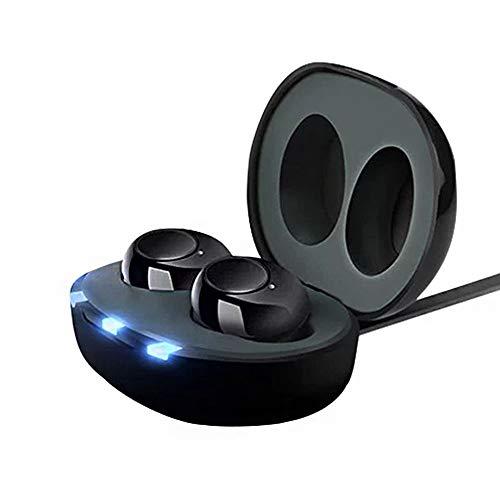 P&D Amplificateurs Invisible Rechargeable Digital Sound Solution auditive de tonalité réglable pour laudience âgés et aux Jeunes Une Perte auditive Voix Enhancer avec Chargeur Boîte (1 Paire)
