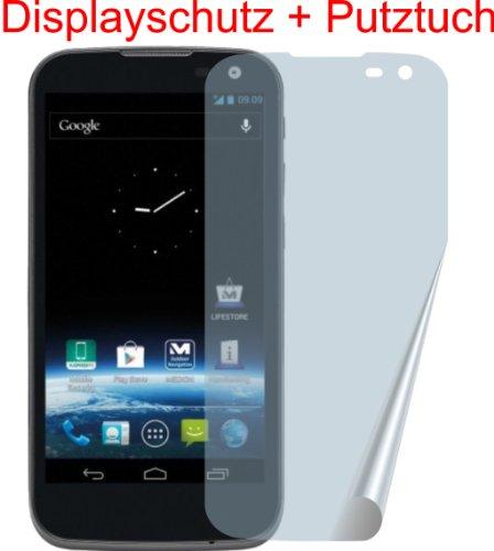 4ProTec I 3X Medion Life X4701 MD98272 Premium ENTSPIEGELNDE Displayschutzfolie incl. Putztuch - TESTSIEGER Schutzhülle Displayschutz Displayfolie Folie