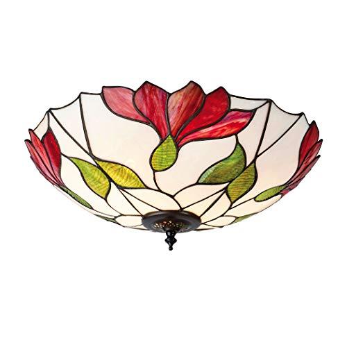 Botanica Grande Tiffany Deux Lumière Plafonnier Plafonnier - Intérieurs 1900 63960