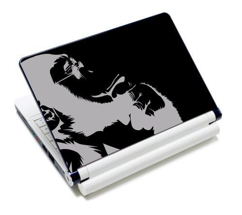 Luxburg® Design Aufkleber Schutzfolie Skin Sticker für Notebook Laptop 10 / 12 / 13 / 14 / 15 Zoll, Motiv: Nachdenklicher Schimpanse