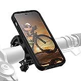 Morpheus M4s - Soporte de bicicleta para iPhone 12 Mini (cierre rápido, incluye funda magnética), color negro