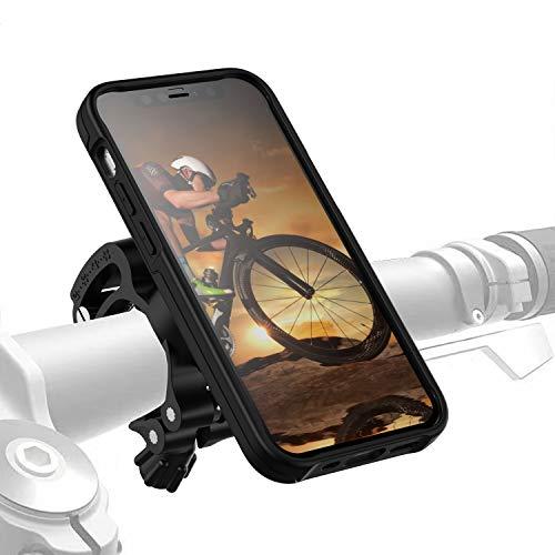 Morpheus M4s iPhone 12 Mini Fahrradhalterung - Handyhalterung Fahrrad iPhone 12 Mini - Halterung & iPhone 12 Mini Hülle magnetisch fürs Rad, DropTest, mit Quick Lock, Bike Kit schwarz