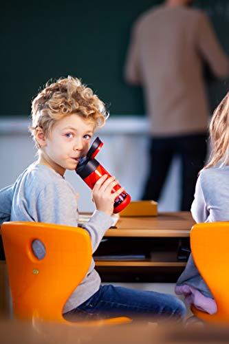 Jarlson® Borraccia Bambini Acciaio Inox, Bottiglia Termica, Senza BPA, Bottiglia Acqua con Cannuccia, Termos 350 ml