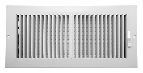 Accord AASWWH2146 Sidewall/Ceiling Register with 2-Way Aluminum Design, 14-Inch x 6-Inch(Duct Opening Measurements), White
