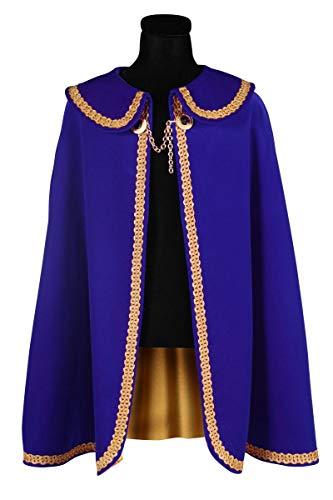 Thetru Prinzenumhang Gardeuniform Prinzengarde Königsumhang (One Size, blau/Gold)