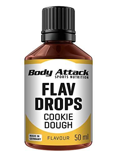 Body Attack Flav-Drops, Aroma für Lebensmittel, zuckerfrei, kalorienfrei, vegan Cookie Dough (50ml)