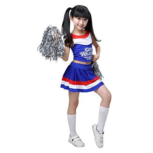 Goyajun Cheerleader Kostüm Student Cheer Uniform Outfit Fasching Party Halloween Cosplay für Sport Mädchen Jungen