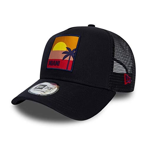 New Era Miami cap Verstellbar Trucker Kappe Sommer Patch USA Blau - One-Size