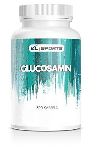 Glucosamin Kapseln - 300 Kapseln je 750mg - 100% reines Glucosaminsulfat Pulver (300 Kapseln)