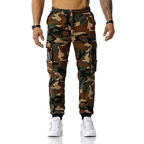 Pantalones de Camuflaje para Hombre Pantalones de Combate Pantalones Casuales de Corte Relajado Pantalones de Seguridad Pantalones de Trabajo de Combate de Colores Frescos con cinturón