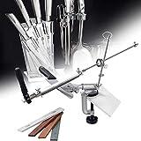 YFY Amperaci per coltelli Professionale con 4 Ruote molate, PRO RX-008 Ruota Antipasto ad Angolo Fisso a Rotazione, Strumento di affilatura Cucina Professionale