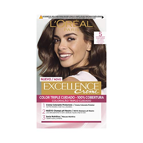 L'Oréal Paris Excellence Creme Tinte Tono 5 Castaño Claro - 50 ml