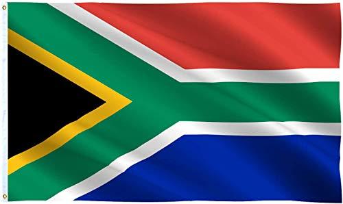Ericraft Bandera sudafricana Grande 90x150cms Bandera Sudáfrica de balcón para Exterior Reforzada y con 2 Ojales metálicos, Bandera Sudafrica Tela, South Africa Flag