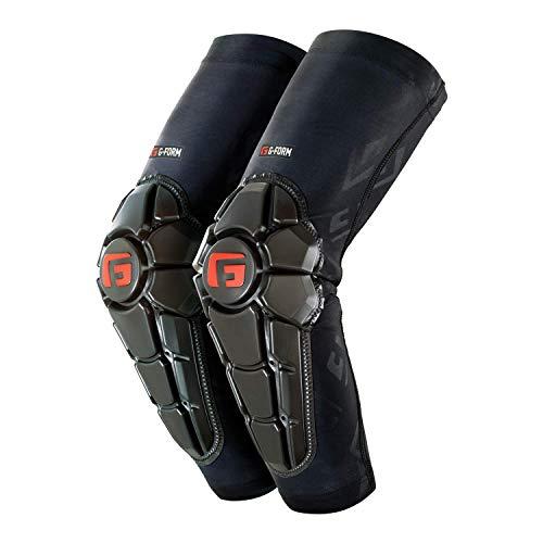 G-Form Pro X2 Ellenbogenschoner (1 Paar), schwarzes Logo, Jugendliche, Größe S/M