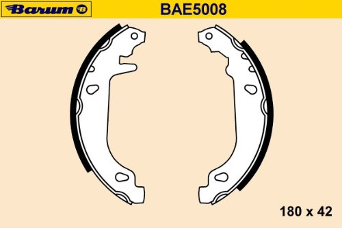 BARUM BAE5008 KIT DE SEGMENT DE FREIN ET INSTALLATION