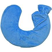 Ram Wärmflasche für Nacken und Schultern, 1 l, mit weichem, abnehmbarem und waschbarem Fleece-Bezug, Blau