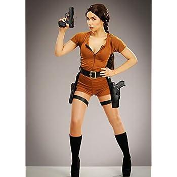 Magic Box Disfraz de Cazadora de Tesoros Estilo Lara Croft para ...
