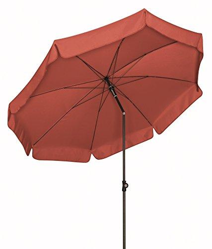 Doppler Absolut wetterfester Gartenschirm Sun Line III 250 UV-Schutz 50 Plus, Farbe Terracotta