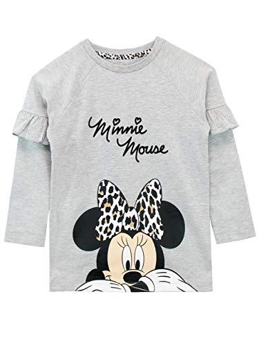 Disney Felpe Senza Cappuccio per Ragazze Minnie Mouse Grigio 2-3 Anni