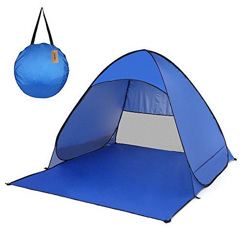 Irfora - Tienda de Playa Pop Up - Tienda de campaña para Playa y Tiempo Libre, protección UV Ligera, para Camping, jardín doméstico, Playa… (Royal Blue)