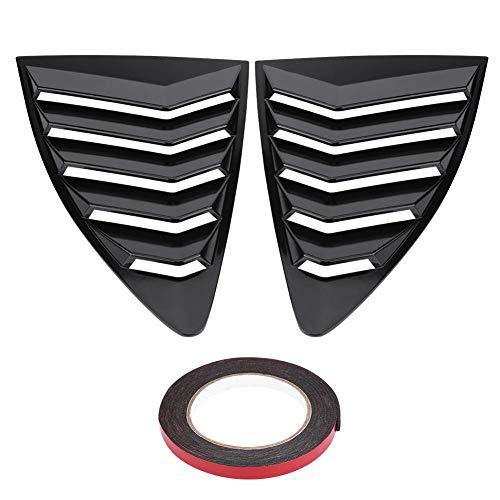 Suuonee Rejilla de la ventanilla del automóvil, 1 par de ABS Lumbrera de la lumbrera lateral Ajuste de la cubierta de ventilación para 86 / Scion FR-S 13-18(Negro)