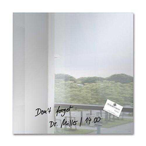 SIGEL GL275 Pizarra magnética de cristal, 48 x 48 cm, espejo - Artverum