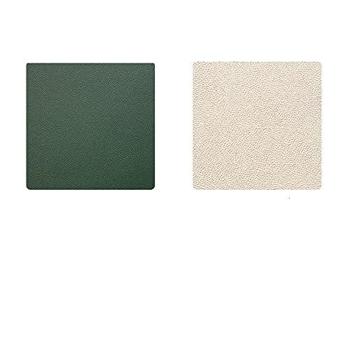 Manteles Individuales De Dos Colores En La Parte Delantera Y Trasera Manteles Simples Rectangulares De Color Posavasos Cuadrados De Pvc 43X30 30X30 10X10 Manteles Individuales Occidentales 5 Pcs