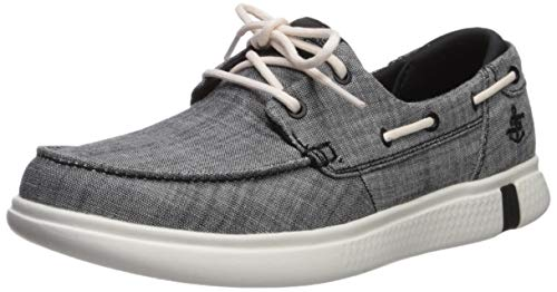 Skechers Damen Glide Ultra Sneaker, Schwarz (Black Textile/White Trim BKW), 40 EU