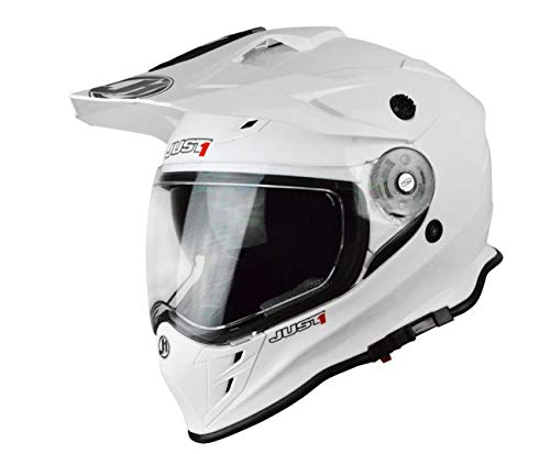 JUST1 Casco Enduro J34 Adventure Solid bianco (XL)