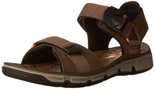 CLARKS Men's Explore Part Walking Sandal,Mushroom Nubuck Leather,US 13 M