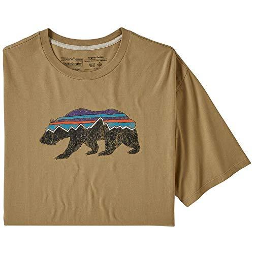 Patagonia M's Fitz Roy Bear Organic T-Shirt pour Homme S Brun Classique