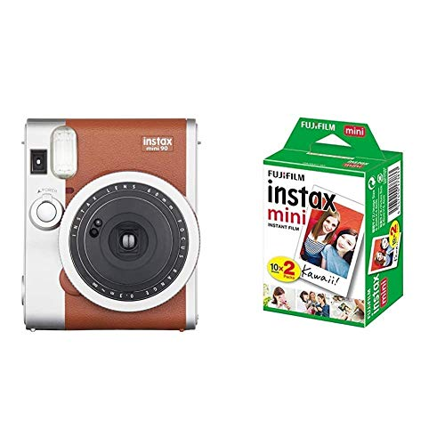 Fujifilm Instax Mini 90 Neo Classic Appareil Photo Instantané Marron Clair + 2x10 Films