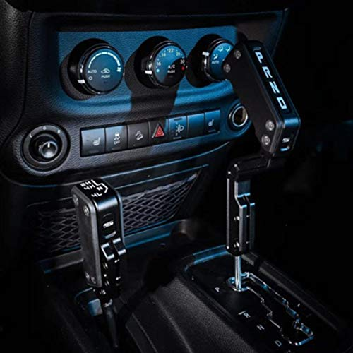 MAIKER Black Automatic Gear Shift Lever Knob Shifter Transfer Case Lever Handle Kit Fit for Jeep Wrangler JK 2007-2018 (Not Fit The Shifter with an Buttons)