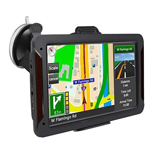 Navegador GPS Navegacion GPS Asistente a la Conducción actualizaciones a través de WiFi GPS con Mapa para autocaravanas con tráfico Digital y navegación por Voz (Color : Negro)