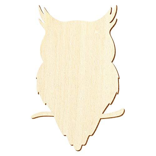 Búho de madera V1 – 3 – 50 cm de altura – Decoración para manualidades, tamaño: 23 cm, paquete con 1 pieza