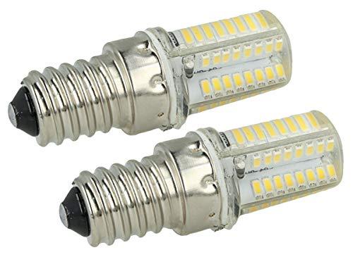 LEDLUX 2 Pièces Ampoule Tubulaire Led E14 3.5W 220V Pour Hotte De Cuisine Éclairage 360 ° Avec Protection Blanc Silicone (4500K) [Classe d'efficacité énergétique A +]