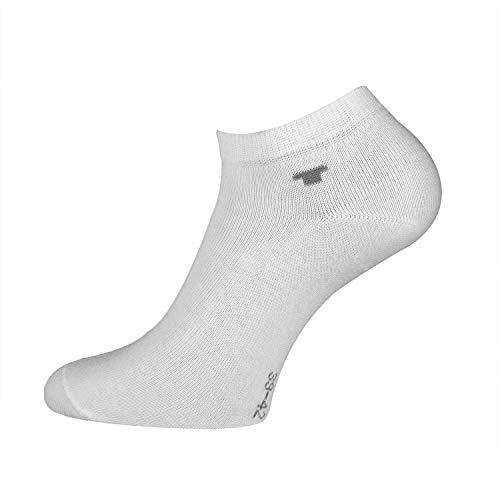 TOM TAILOR Unisex - 8 Paar perfekte Sneakersocken mit Anti-Loch-Garantie, Füßlinge, Enkelsocken (Weiß, 43-46)