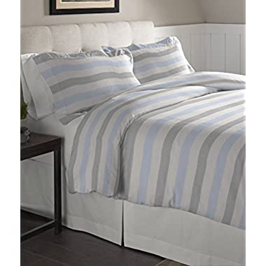 Pointehaven Flannel Oversized Duvet Set, King, Savannah