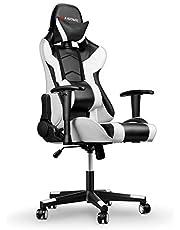 mfavour Gaming Racing skrivbordsstol justerbar dator kontorsstol med ländrygg stöd och huvudkudde PC-stol, ergonomisk design med kudde och liggande rygg