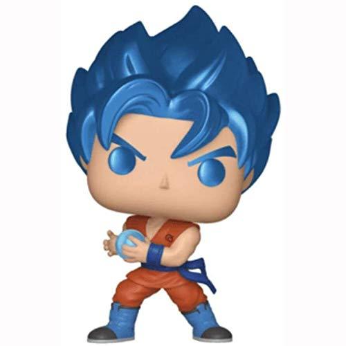 GOXJNG Anime Figur Dragon Ball Action Figur Pop Blauer Sohn Goku Kakarotto Super Saiyan Mann 10cm Figur...