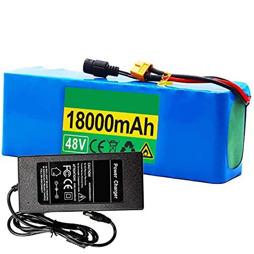FREEDOH 48v 18 Ah E-Bike Lithium-ionen Akku 500-1000W Motorbatterie Für Elektrowerkzeuge Elektroroller Elektrorollstühle Mit BMS-schutzplatine + Ladegerät + XT60 Stecker