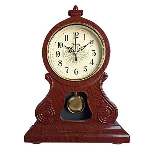 Reloj de chimenea, reloj de mesa antiguo, reloj de mesa para la decoración del salón, reloj de chimenea antiguo, silencioso, adecuado para chimenea, oficina, escritorio, estantería